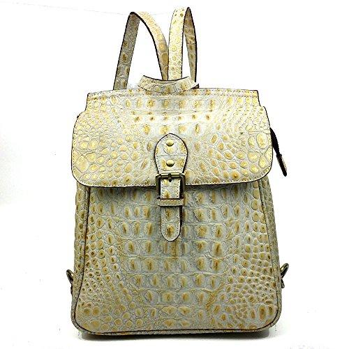DJB/ Vintage Krokodil Muster Leder Frauen Tasche Frau Schulter geschlungen multifunktionale Wellenpakets Rucksack