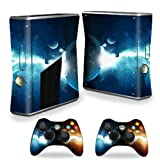 #9: MightySkins Protective Vinyl Skin Decal Cover for Microsoft Xbox 360 S Slim + 2 Controller skins wrap sticker skins Sci Fi