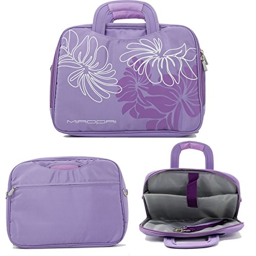 Lavender  14In Nylon Floral Print Laptop Case With Shoulder Strap Fits Asus K40 14  Series  K40ij  K40in  K42 14  Series  K42f  K42jc  K42jr  N43 14  Series Nuvur153