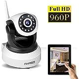 AKASO Wireless 960P IP camera Wifi Security Home Indoor Monitoring Surveillance Network Webcam Pan/Tilt Video Surveillance Baby Monitor 2 Way Audio SD Card Slot Day/Night Vision(IP13M-903)