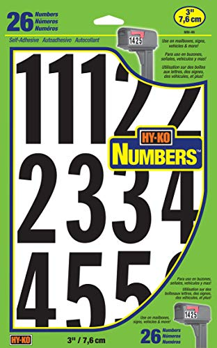 - Hy-Ko Prod. MM-4N26 Boat Number Assortment