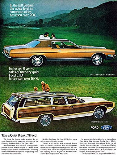 - 1971 Ford LTD Brougham & LTD Country Squire - Promotional Advertising Poster