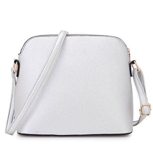DASEIN Handbags Bags Crossbody with Purses Tassel Cute Silver Medium Lightweight 7660 Black rcqItr