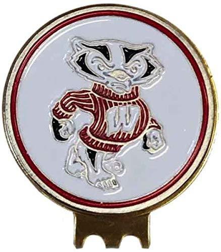 Wisconsin Badgers Golf HAT Clip Brass W/Ball Marker