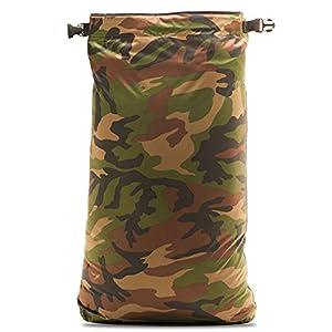 Aqua Quest Rogue Dry Bags - 100% Waterproof - 10, 20, 30 L - Camo or Olive Drab (Camo, 20 L)