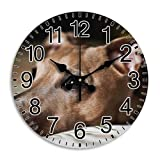 Monica M Joheson Frameless Compatible Time Arabic Numbers Technology Quiet Round Wall Clock Oversized Diameter 11.8 Inch