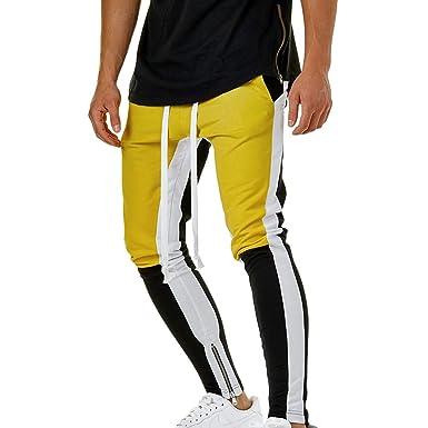 Xinwcanga Hombre Pantalones Largo de Chándal Tether Atléticos ...