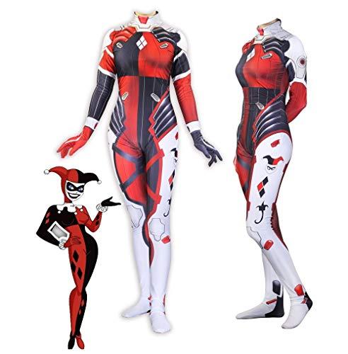 3D Printed Suicide Squad Harley Quinn D.Va Hana Song Skin Zentai Dva Cosplay Costumes Lycra Spandex Halloween Bodysuit -