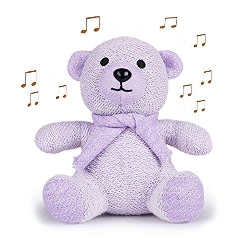 er, Sysmarts Cute Bear Toys Portable Wireless Bluetooth Mini Speaker Gift for Women,Girls, Kids, Children, Baby (Purple) (Wireless Bear)