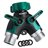 #10: Homitt 2 Way Y Hose Connector, Garden Splitter with Comfortable Rubberized Grip for Easy Life