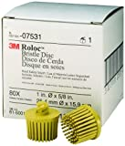 3M 07531 Roloc Bristle Disc, Yellow