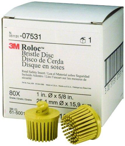 3M 07531 Roloc Bristle Disc, Yellow