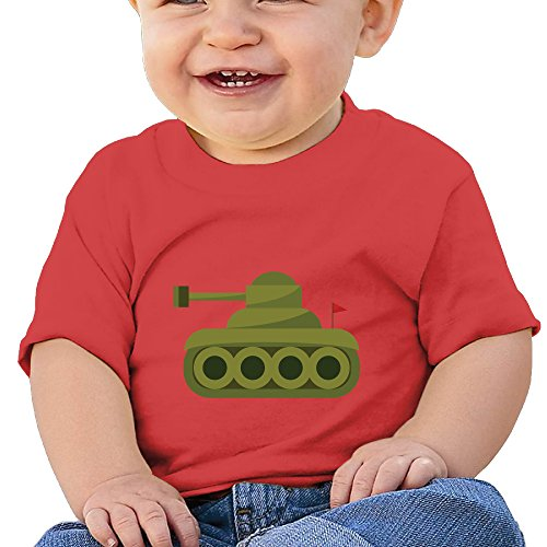 (TANKS Soft And Cozy Cotton T-shirt Short Sleeve Tees 6Months To 2Y)