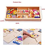 Mincy Wooden Bear Family Puzzle, Baby Early Education Matching Puzzle Infant Pairing Jigsaw Puzzle Board Toy For Kids