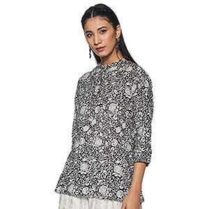 Amazon Brand – Myx Women's Cotton Straight Kurti