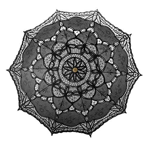 TopTie Lace Umbrella Parasol Wedding Bridal Photograph for Decoration Halloween Costume Accessories