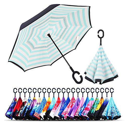 Monstleo Inverted Umbrella,Double Layer Reverse Umbrella for