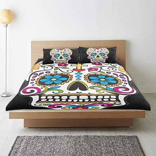 Montoj Parure de lit avec housse de couette standard pour lit double et housse de couette extra douce pour garçons et filles