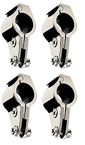 Four Units of Stainless Steel Bimini Top Hinge - Rail Mounts 7/8