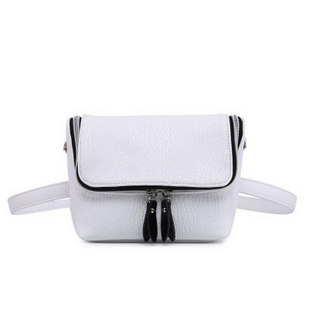 JNHVMC Classic Leather Waist Bags Women Shoulder Bags Vintage Mini Bags Simple Casual Belt Bags