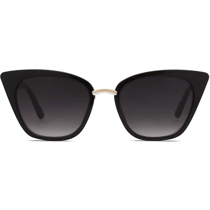 8fa82827e SOJOS Cat Eye Brand Designer Sunglasses Fashion UV400 Protection Glasses  SJ2052 with Black Frame/Gradient