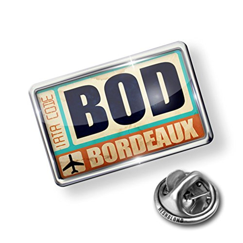 cheap Pin Airportcode BOD Bordeaux - Lapel Badge - NEONBLOND