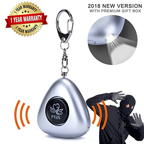 Emergency Personal Alarms Keychain, Personal Security Alarm with 130 dB Safe Sound Alarms and LED Flashlight, Self Defense Keychain Alarm For Women Men Student Kids Girls Elderly