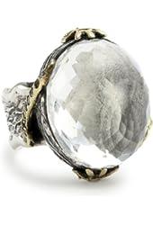 BORA Clear Quartz Imagination Ring, Size 7