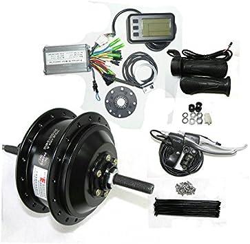 GZFTM Kit eléctrico de la conversión de la Bicicleta del Equipo eléctrico de la Bici del Motor eléctrico de la Bicicleta 250W 24V (Negro): Amazon.es: Deportes y aire libre