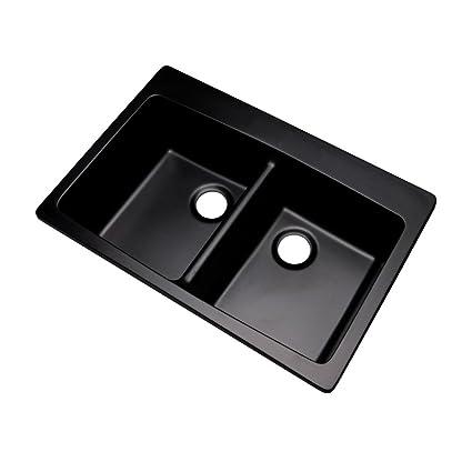 Dekor Sinks 89099Q Westwood Composite Granite Double Bowl Kitchen ...