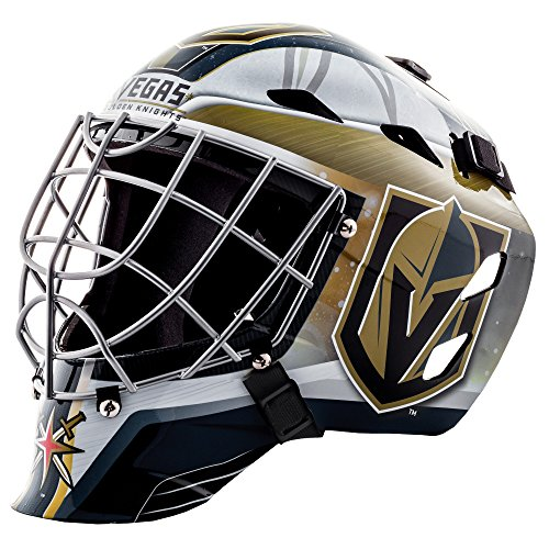 Goalie Face Mask - NHL Vegas Golden Knights Franklin Sports Mini Goalie Face Mask, Black, One Size