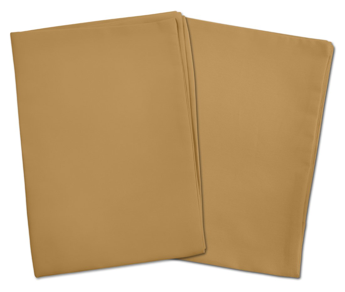 2 Light Brown Toddler Pillowcases - Envelope Style - For Pillows Sized 13x18 and 14x19 - 100% Cotton With Percale Weave - Machine Washable - 2 Pack