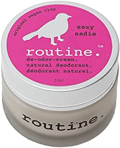 Routine De-Odor-Cream Handcrafted 50ml Clay Formula Deodorant Cream (Sexy Sadie (Vegan))