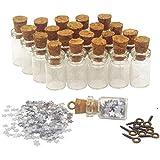 LEFV™ 50pcs Mini Glass Bottle 0.5ml Clear Vial Review and Comparison