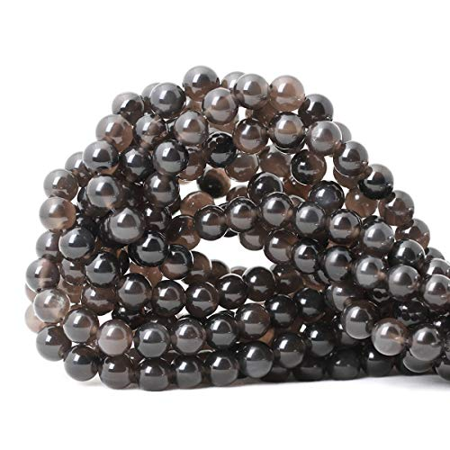 CHEAVIAN 45PCS 8mm Natural Ice Obsidian Gemstone Round Loose Beads Crystal Energy Stone Healing Power for DIY Jewelry Making 1 Strand 15