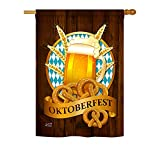 Angeleno Heritage – Oktoberfest Happy Hour & Drinks – Everyday Beverages Impressions Decorative Vertical House Flag 28″ x 40″ Printed in USA Review