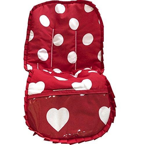 colchoneta silla bebe corazones rojo: Amazon.es: Handmade