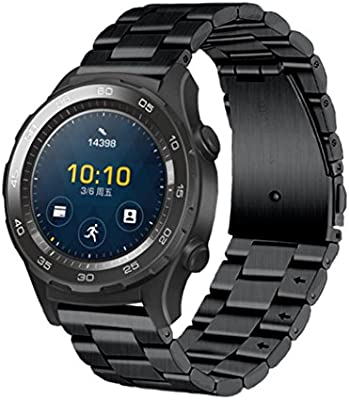 Huawei Watch 2 Correa, Malloom Genuina pulsera de acero inoxidable correa banda para Huawei Watch 2