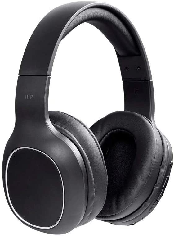 Monoprice BT-200 Bluetooth Over Ear Headphone – Black, Lightweight, Designed for Comfort, On Ear Controls Built-in Microphone