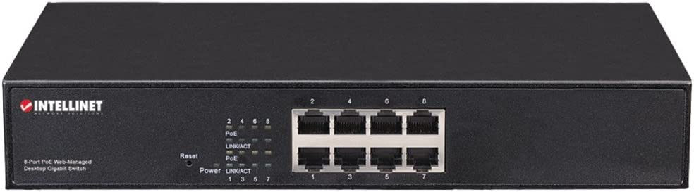 Saves time /& money by delivering data /& power via existing network cables 560542 1-8-Port PoE+ Web-Managed Desktop Gigabit Switch 10//100//1000 auto-sensing ports automatically detect optimal network speeds