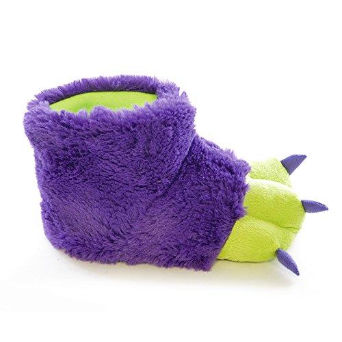 Childrens/Kids Plush Monster Paw Novelty Slippers