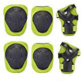 Knee Pad , GIM Kid's Protective Gear Set Knee Elbow Pads Wrist Support for Child Roller /Skating/ BMX /Bike /Skateboard (Green)
