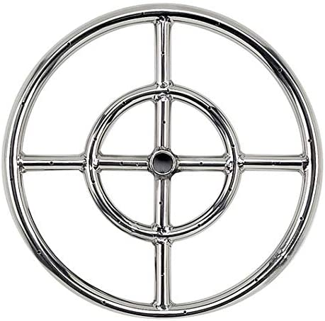 Fire Pit Round Ring Burner 24 inch Outdoor Stainless Steel Double Ring