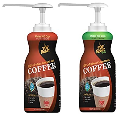 Top Roast Concentrate w/Microground Liquid Coffee | 15.2 Ounce Pump Bottle - Makes 100 Cups