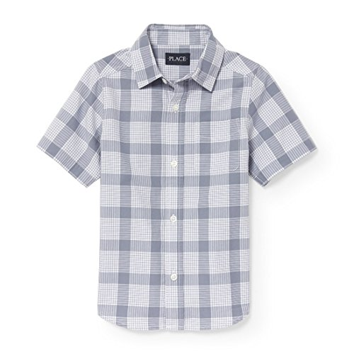 The Children's Place Big Boys' Short Sleeve Uniform Oxford Shirt, Anchor 3864, M (7/8)
