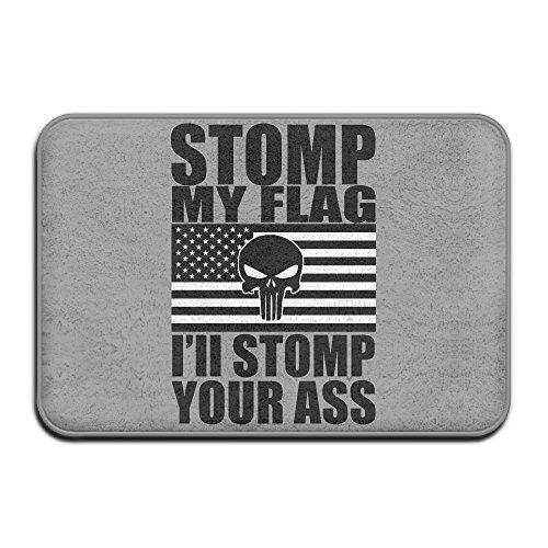 [JML93 Home Furnishing Balcony STOMP My Flag Your Ass NonSlip Mats White] (Forrest Gump Kid Costume)