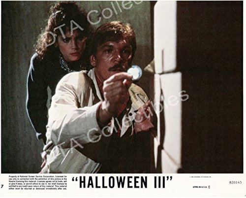 MOVIE PHOTO: HALLOWEEN III-1982-TOM ATKINS-STACEY NELKIN-8x10 STILL FN -