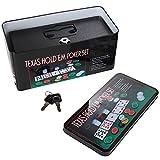 """Safe Solution Texas Hold'em Diversion Safe Cashbox with Lock (8.5"""" x 3.75'')"""