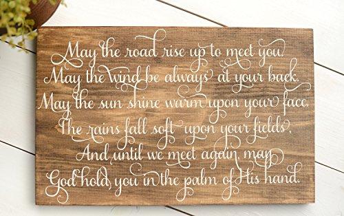 (Adonis554Dan Irish Wood Sign Wedding Sign Irish Blessing Sign Irish Wedding Gift Irish Blessing May the Road Rise up to Meet You)