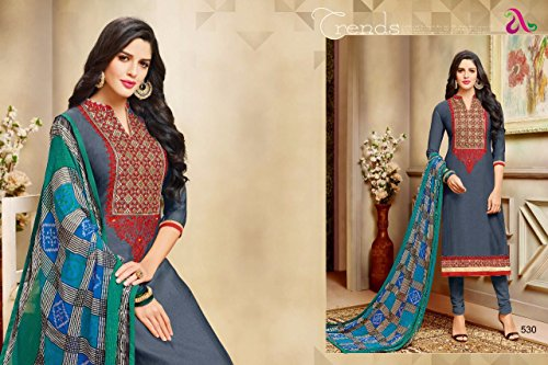 DAIRY Milk VOL-20 16 Pcs Chanderi Cotton Fine Embroidery Salwar Kameez by PANCHAL Creation -03 by DAIRY Milk VOL-20 (Image #8)